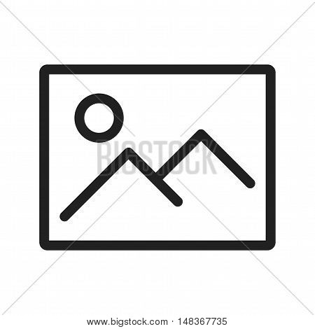 Screen, image, picture icon vector image. Can also be used for user interface. Suitable for use on web apps, mobile apps and print media.