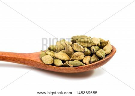 cardamom pods cooking, cuisine isolated on white