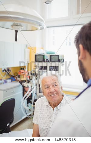 Doctor interacting with patient at the hospital