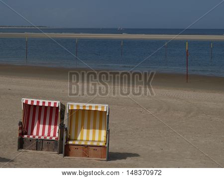 nice beach on an german Island in the North sea