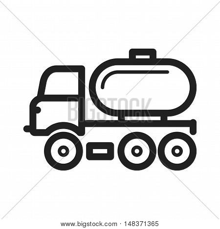 Truck, tanker, fuel icon vector image. Can also be used for Industrial Process. Suitable for mobile apps, web apps and print media.