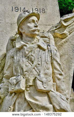 Sainte Marguerite sur Duclair France - june 22 2016 : the war memorial