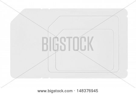 SIM card isolated on a white background