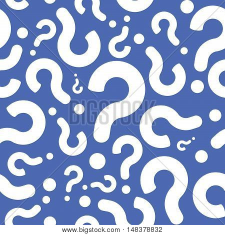 Seamless Question Mark Sign Conversation Pattern Background
