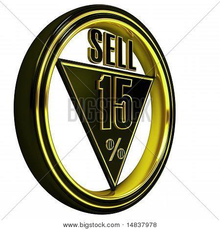 Yellow metal fifteen Percent sell