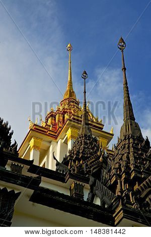 Asia  Thailand  In  Cross Colors  Roof Wat  Palaces        Mosaic