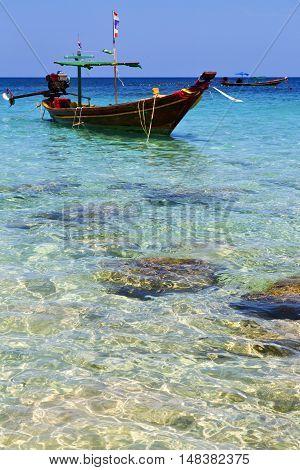 Asia   The  Kho Tao     Rocks House Boat   And South China Sea