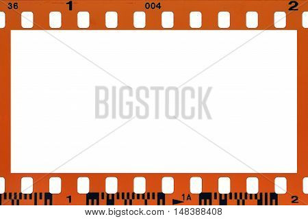 blank filmstrip isolated on white for backgrounds