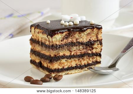 Chocolate cake. Cake sweet dessert for the holiday home
