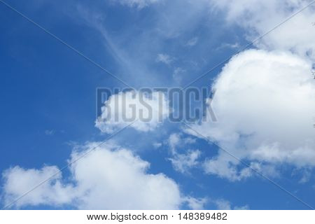 blue sky with cloud Colorful vivid beautiful nature : copy space for background :