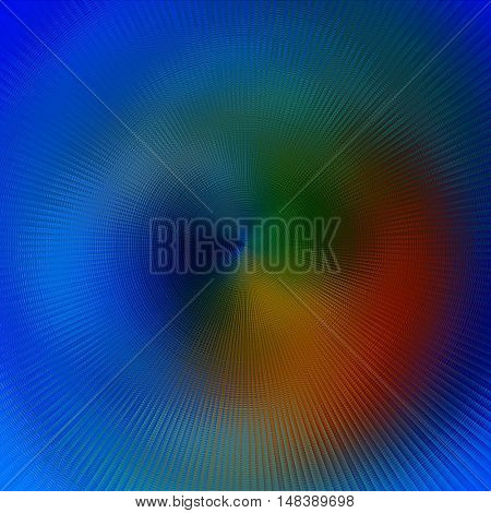 art abstract graphic spherical blurred colored background in blue, green and orange colors; geometric pattern
