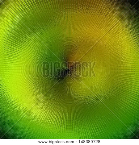 art abstract graphic spherical blurred colored background in green and gold yellow colors; geometric pattern