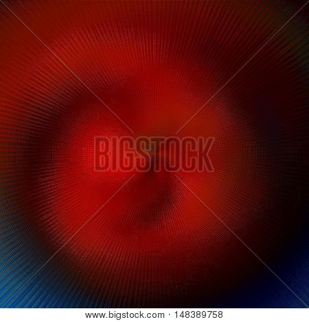 art abstract graphic spherical blurred colored background in red and blue colors; geometric pattern