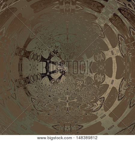 art abstract graphic spherical grunge monochrome background in brown and beige colors; geometric pattern