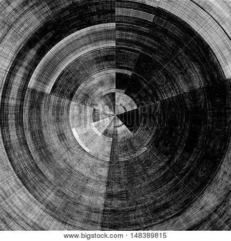 art abstract graphic spherical grunge monochrome background in black, grey and white colors; geometric pattern