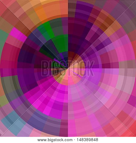 art abstract graphic spherical grunge colored background in rainbow and fuchsia colors; geometric pattern