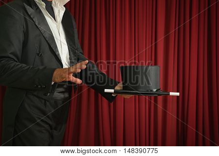 Magician Ready To Perform Magic Trick