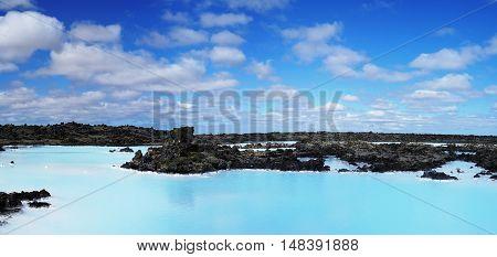 Blue lagoon Thermal spring in Reykyanes Iceland