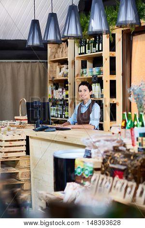 Polite shop assistant