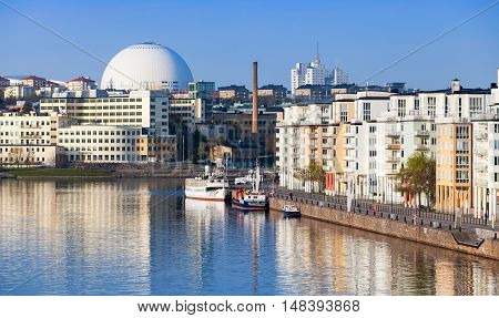 Cityscape With Stockholm Globe Arena