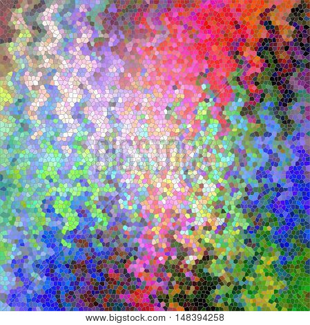 Abstract coloring background of the tropical colours gradient with visual wave,pinch and stained glass effects.Good for your project design