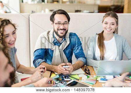 Discussing ideas
