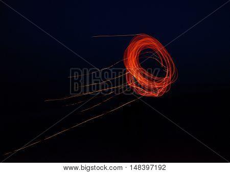 fiery circle