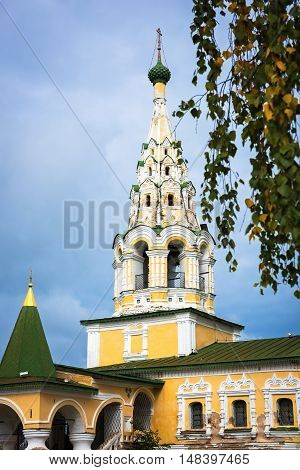 Gate bell tower of the church of St John the Baptist in Uglich, Russia