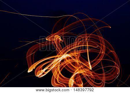 fiery figure