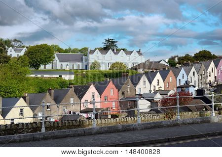 view of a cobh town street in county cork ireland from the catherdral