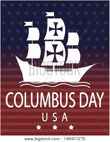 Columbus day usa card or background. vector illustration.