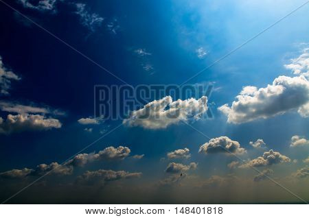 Spectacular of sunset sky a natural background