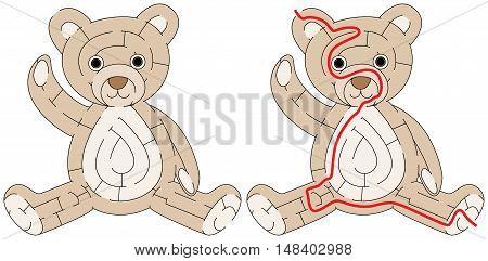 Easy Teddy Bear Maze