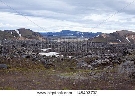 Landmannalaugar Area In Iceland
