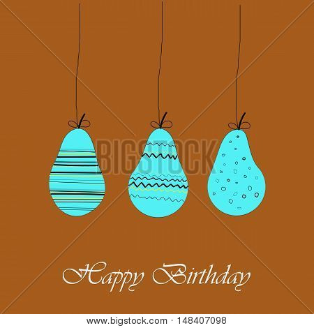 greeting card template happy birthday. brown background