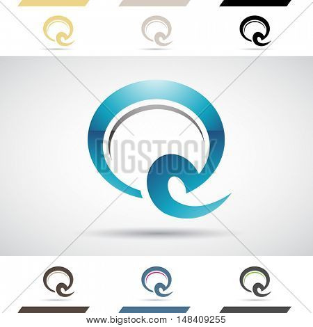 Design Concept of Colorful Stock Icons and Shapes of Letter Q, Illustration