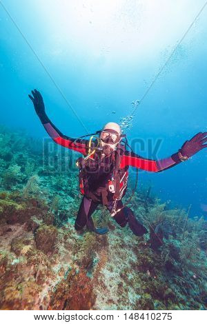Happy Young Scuba Diver