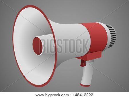 Loudspeaker or megaphone isolated realistic vector illustration