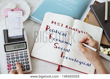 Pest Analysis Meeting Economic Concept
