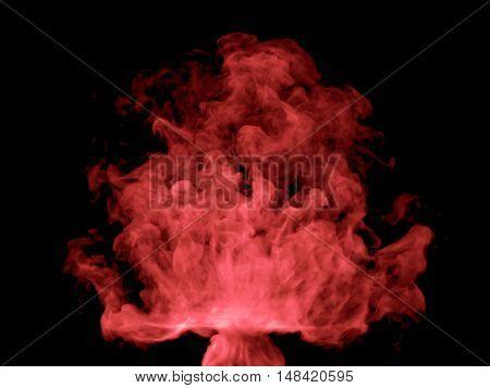 Illustration Of Red Smoke
