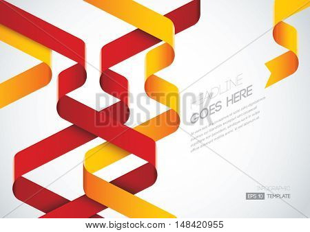 Vector of stylized ribbon and background