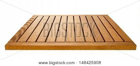brown wooden board over a white background