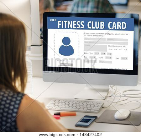 Fitness Club Card Identification Data Information Workout Concept