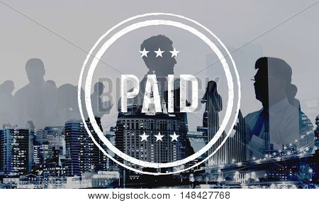 Paid Banking Bookkeeping Budget Finance Pay Concept