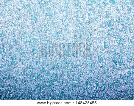 closeup of a green foam texture for background
