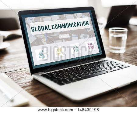 Global Communication Connection Technology Concept