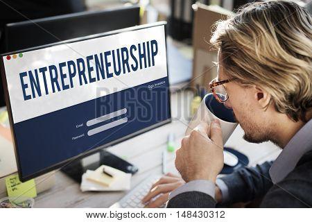 Entrepreneurship Tycoon Small Business Enterprise Concept