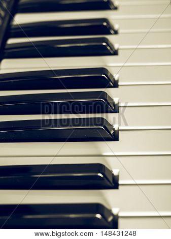 Vintage Looking Keyboard Electronic Instrument