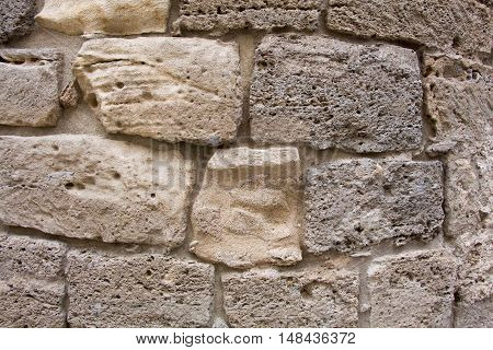 Background of brick wall texture close up