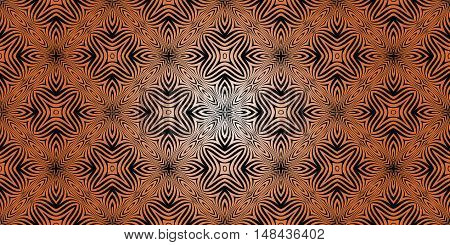 texture pattern illusion of the lines in the form of a symmetrical convex rhombus in a square on a background of golden gradient